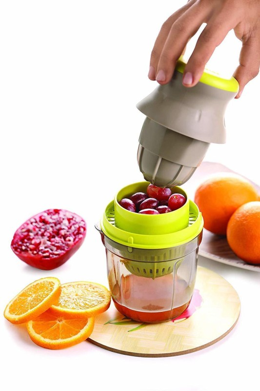 Floraware Plastic 2 in 1 Hand Juicer, Multicolour Plastic Hand Juicer(Green, Yellow Pack of 1)