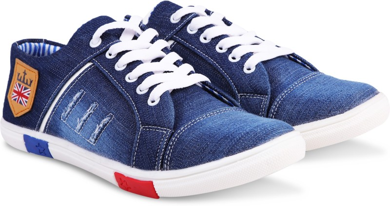 ZOVIM jeans shoes for men Sneakers For Men(Blue)