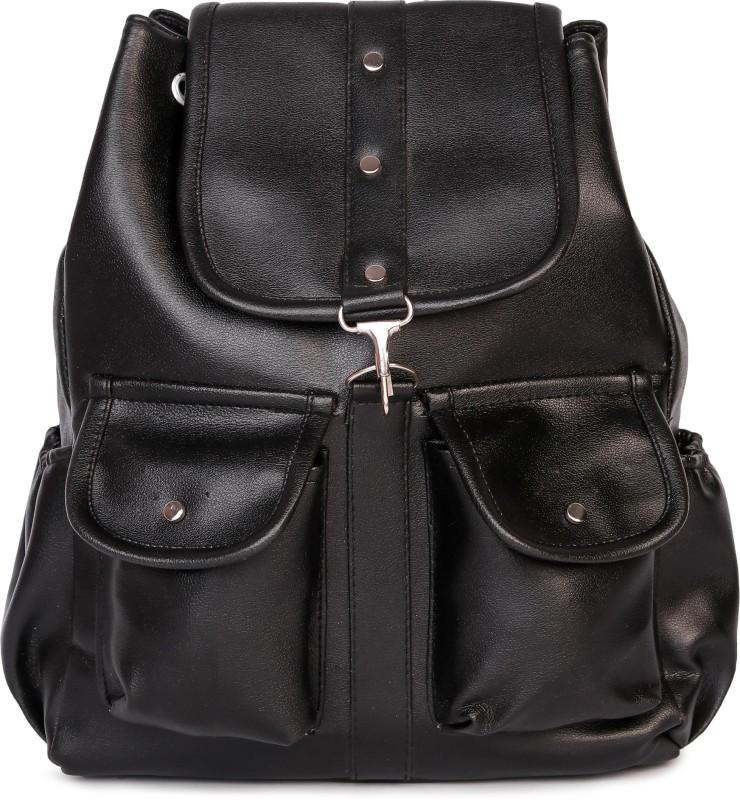 HZB Collection Tab Pocket Backpack Backpack(Black, 25 L)