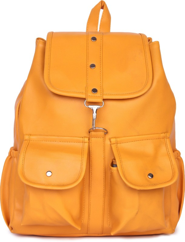 HZB Collection Tab Pocket Backpack Backpack(Yellow, 25 L)
