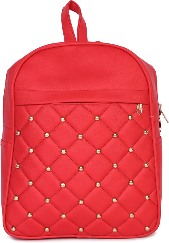 HZB Collection Dome Button Backpack Backpack(Red, 25 L)
