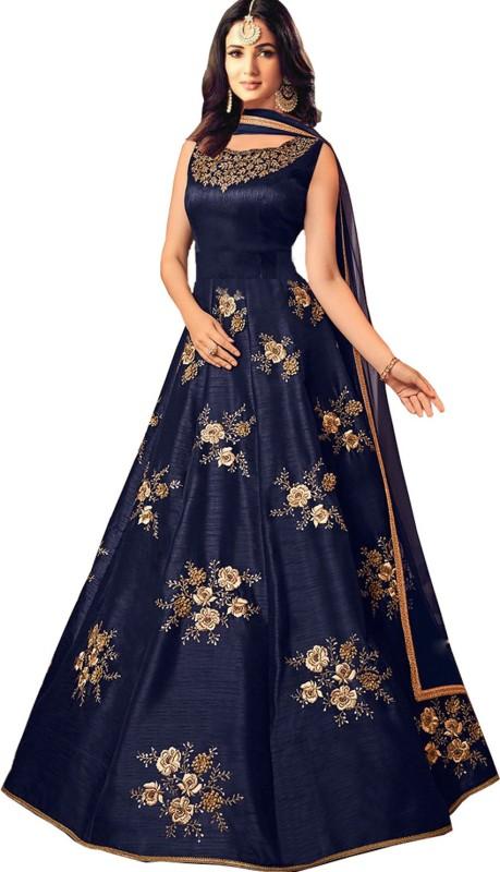 PURVAJA Anarkali Gown(Dark Blue)