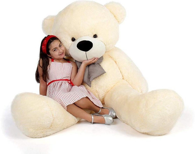 Day 2 Day Teddy Bear with Neck Bow for Girlfriend, Birthday Gift  - 182 cm(Beige)