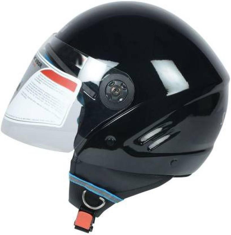 MOTOFLY GLORY GLOSY BLACK Motorbike Helmet(Black)