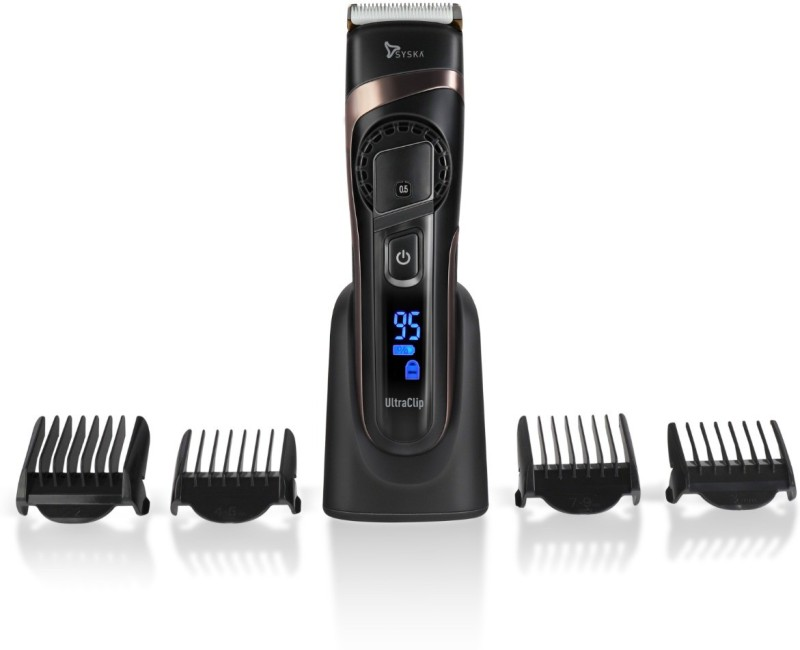 Syska HB 100 Ultra Clip Hair Clipper Runtime: 90 min Trimmer for Men(Black)