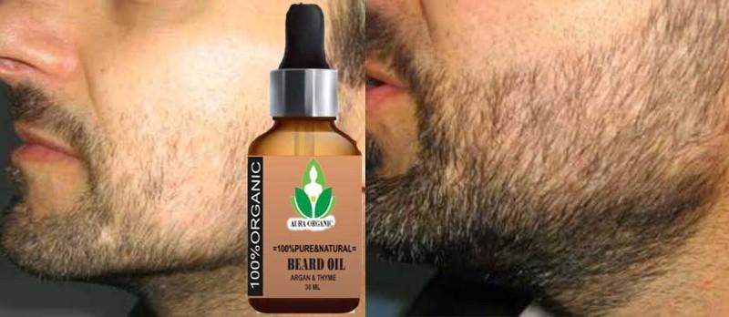 AURA ORGANIC Argan PowerFull Beard Growth Oil Hair Oil(30 ml)