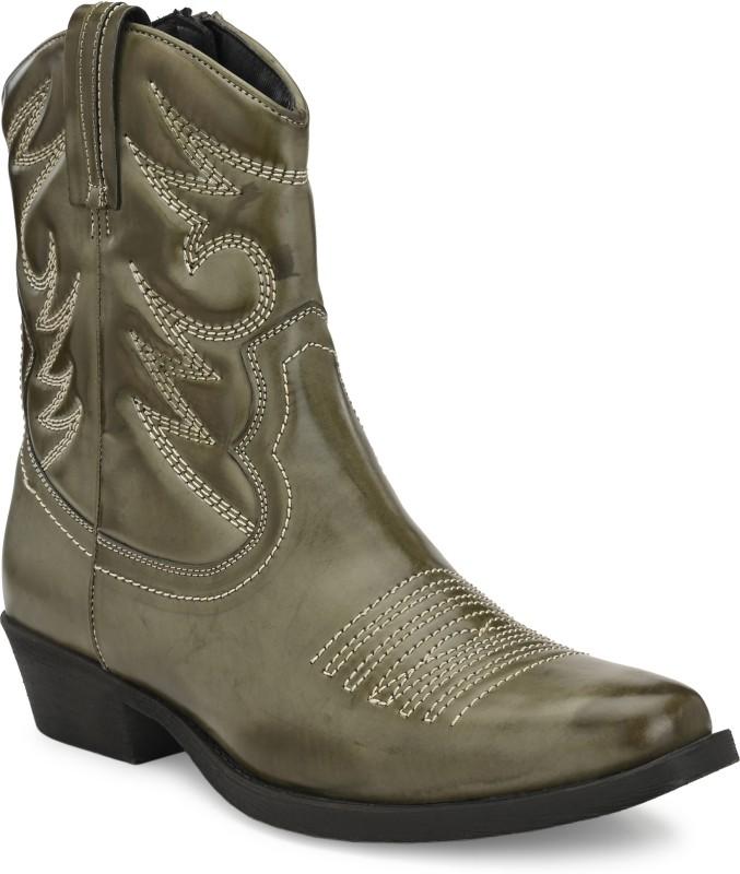 Delize cowboy high ankle High Tops For Men(Olive)