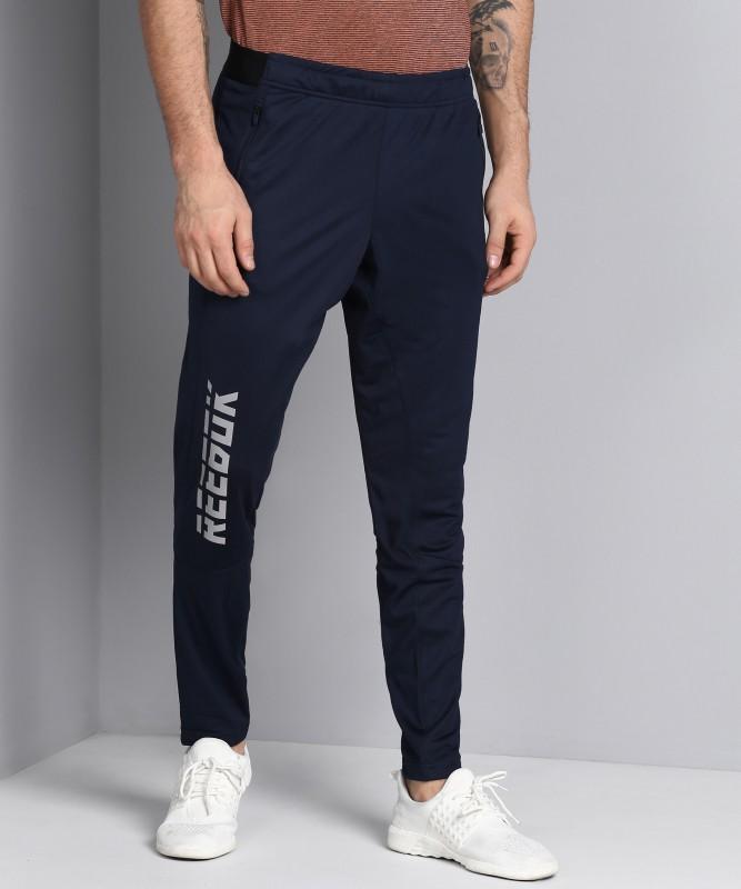 REEBOK Printed Men Dark Blue Track Pants