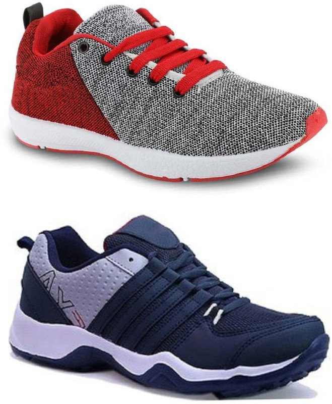 Abisto Combo Pack of 2 Sport Shoes Outdoors For Men(Multicolor)