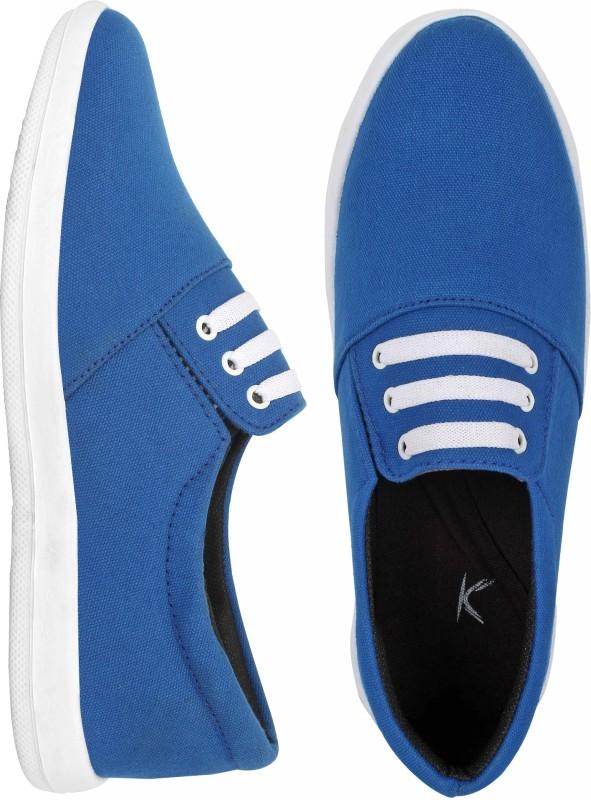 Kzaara Slip On Sneakers For Men(Blue)