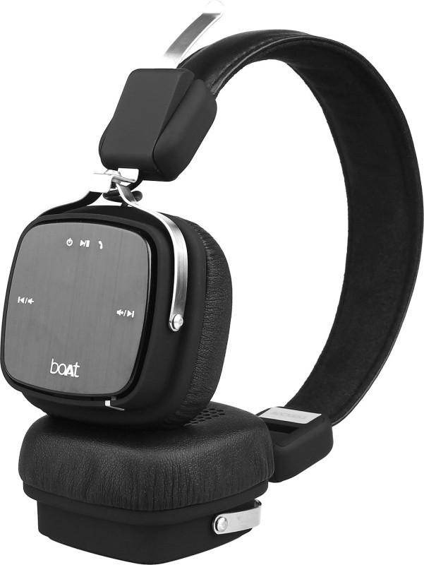 boAt Rockerz 600 HD Sound Bluetooth Headset(Black, On the Ear)