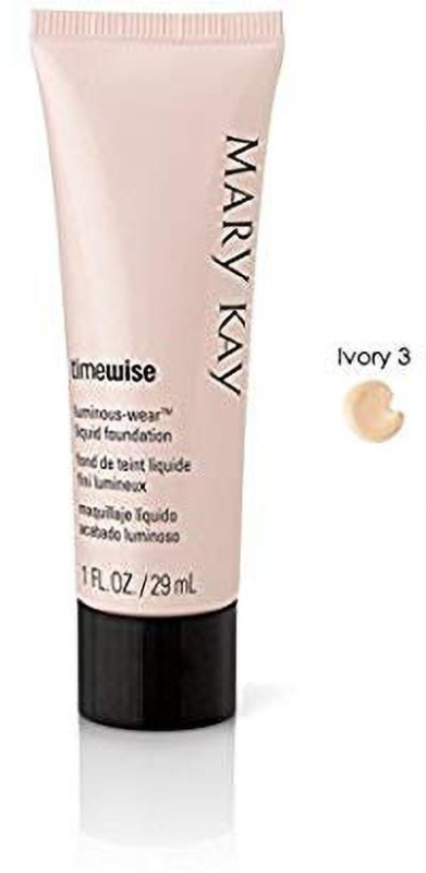 Mary Kay TimeWise Luminous-Wear Liquid Foundation for Normal/Dry Skin (Ivory 3) by Foundation(Ivory, 29 ml)