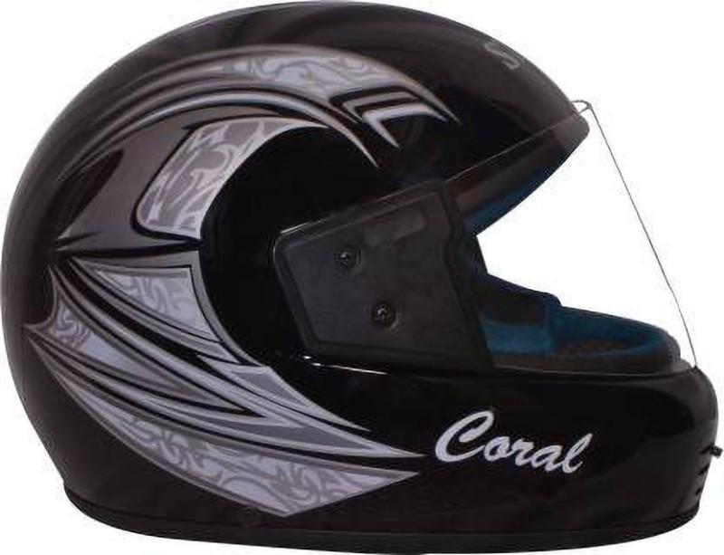 Stick Ultra (ISI Certified) Full Face Motorbike Helmet(Silver Black)