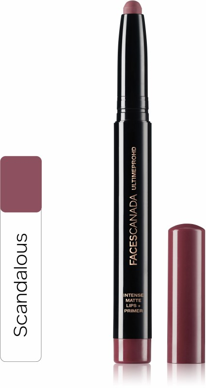 Faces Canada Ultime Pro HD Intense Matte Lips + Primer 13 Scandalous 1.4g(Scandalous 13, 1.4 g)