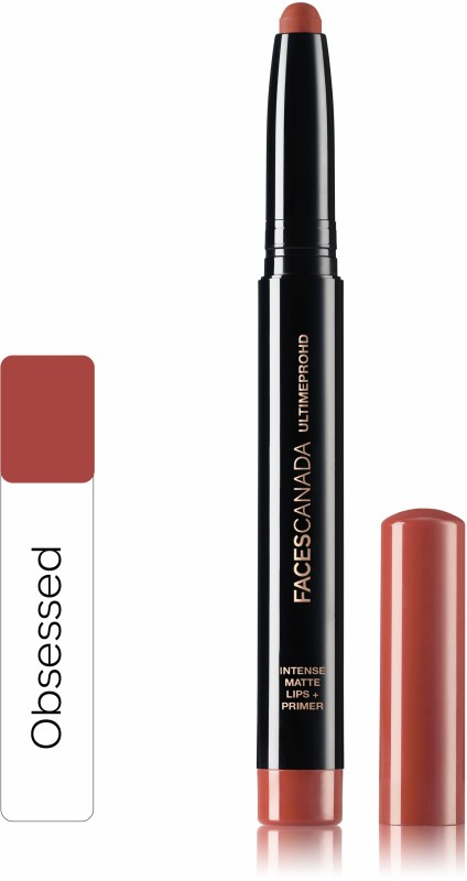 Faces Canada Ultime Pro HD Intense Matte Lips + Primer 15 Obsessed 1.4g(Obsessed 15, 1.4 g)