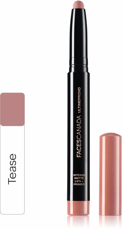 Faces Canada Ultime Pro HD Intense Matte Lips + Primer 14 Tease 1.4g(Tease 14, 1.4 g)