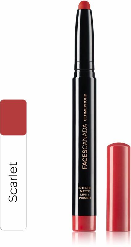Faces Canada Ultime Pro HD Intense Matte Lips + Primer 06 Scarlet 1.4g(Scarlet 06, 1.4 g)