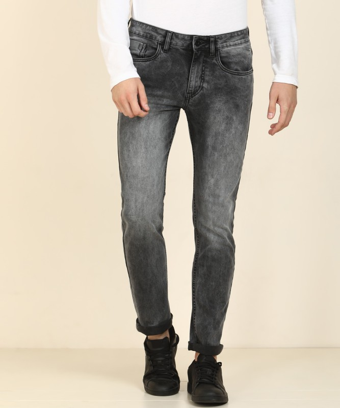 Flying Machine Tapered Fit Men Grey Jeans