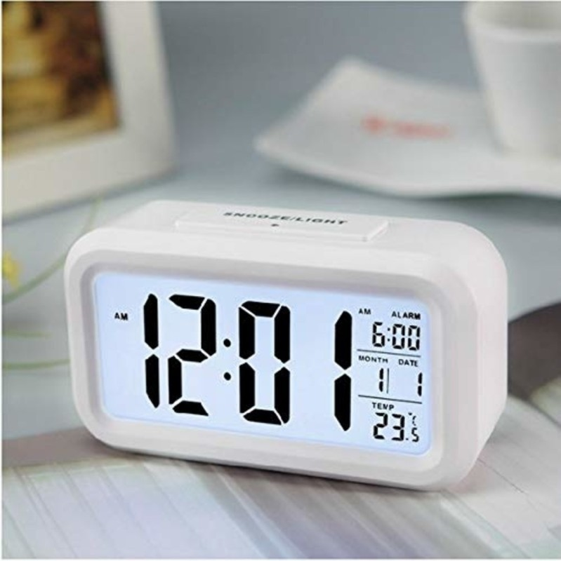 Flipkart SmartBuy Digital White Clock