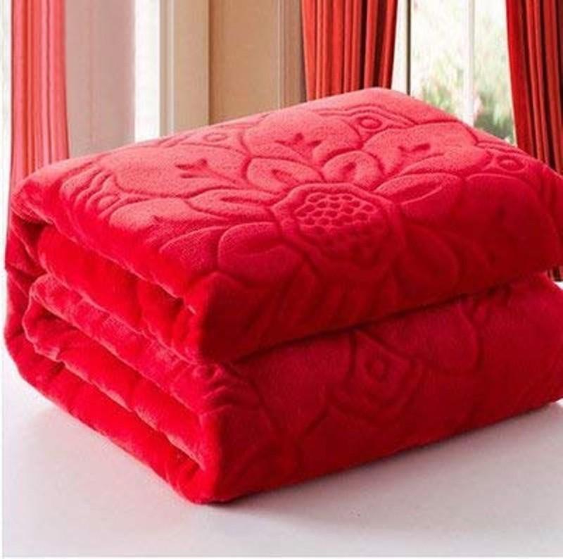 kirshinaENTERPRISES Printed Double Quilt(Cotton, Red)