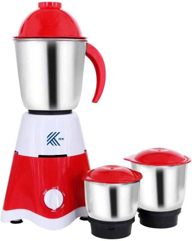 keen 3 Jar SPEED 500 WATT MIXER GRINDER 500 Mixer Grinder(Red, White, 3 Jars)