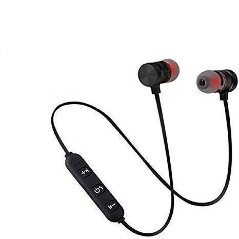 Mehan's Bluetooth Magnetic Headset Sports Wireless Headphones Bluetooth Headset(Black, Wireless in the ear)