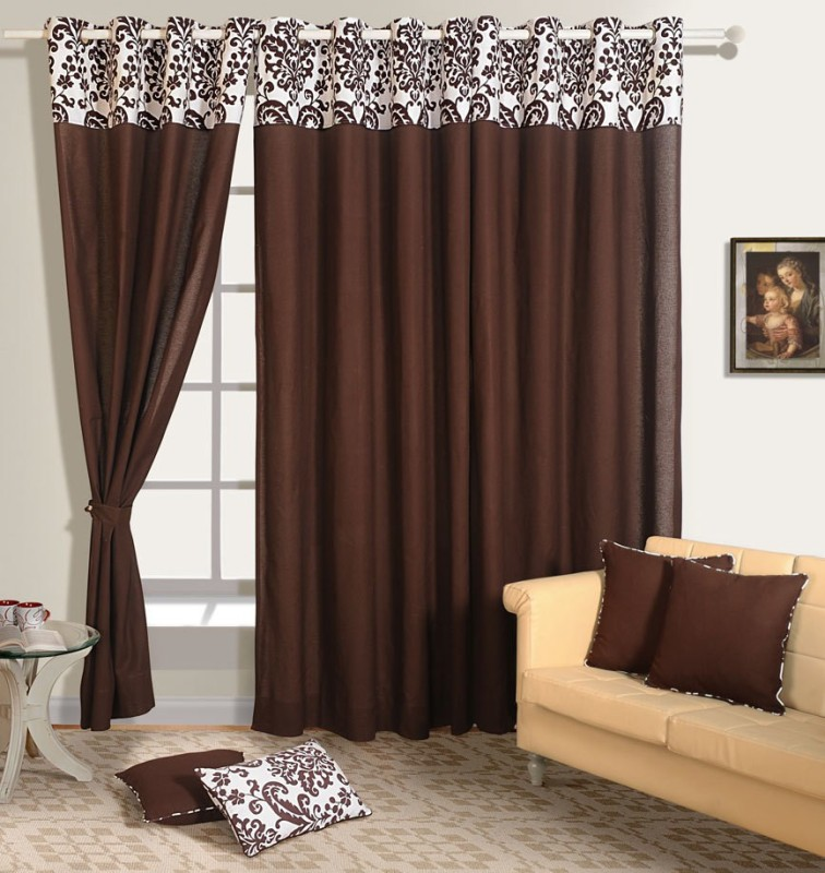 check MRP of brown curtains living room Swayam