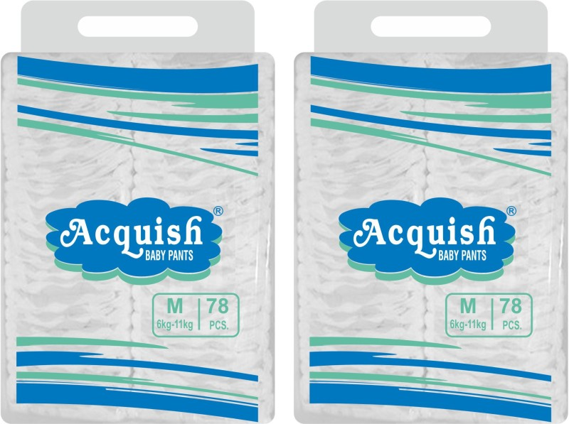 acquish Disposable Baby Pants - M(156 Pieces)