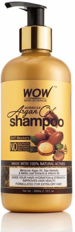 WOW Skin Science Moroccan Argan Oil Shampoo (with DHT Blocker) - 300 mL(300 ml)