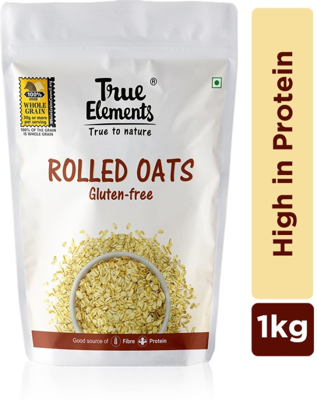 True Elements Gluten Free Rolled Oats, High in Protein(1000 g, Pouch)