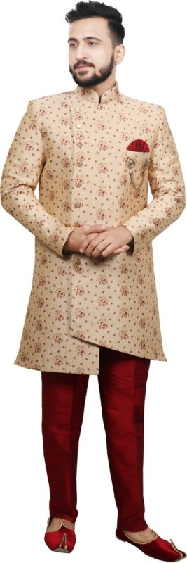 SG RAJASAHAB Men Sherwani and Churidar Set