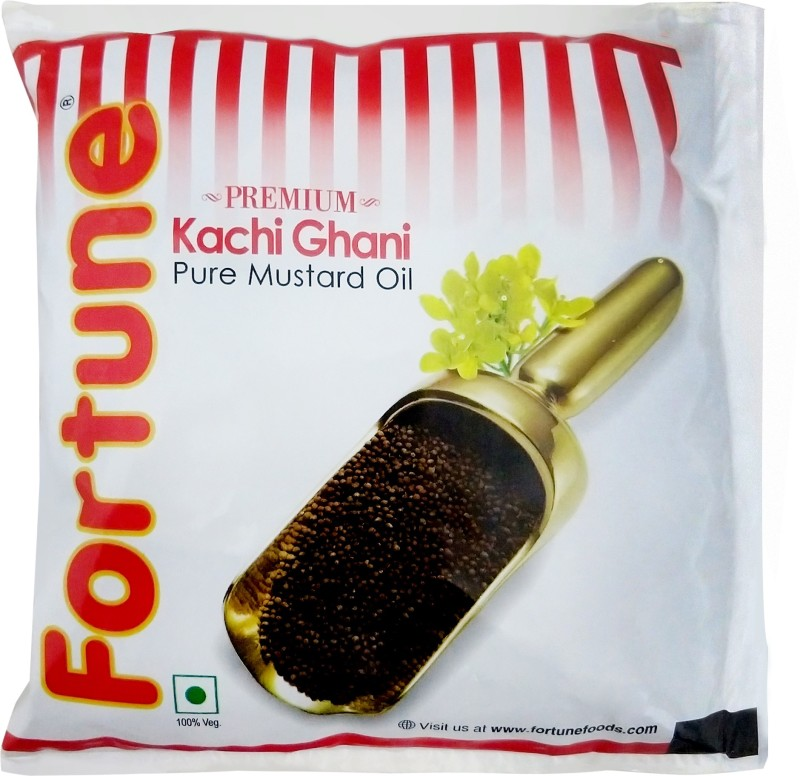 Fortune Kachi Ghani Mustard Oil Pouch(500 ml)
