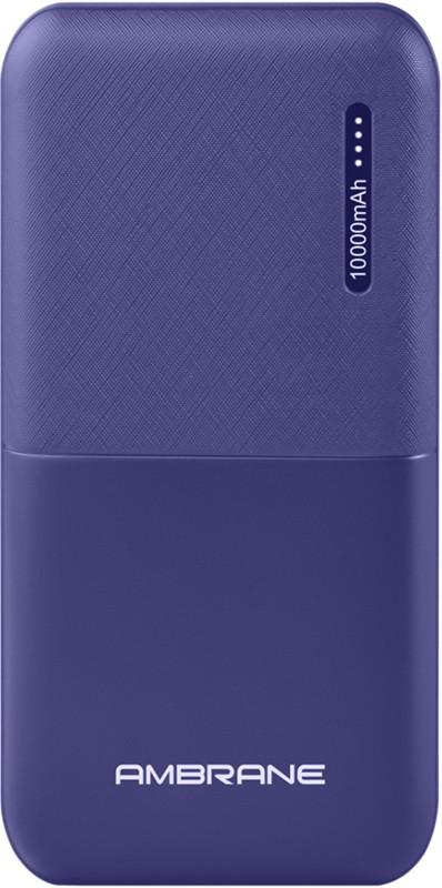 Ambrane 10000 mAh Power Bank(Blue, Lithium Polymer)