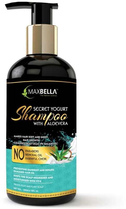 MaxBella Yogurt With Aloe Vera Smoother & Shiner Hair Daily Care,Free from Paraben & Mineral Oil, for Men and Women Hair Shampoo(300 ml)
