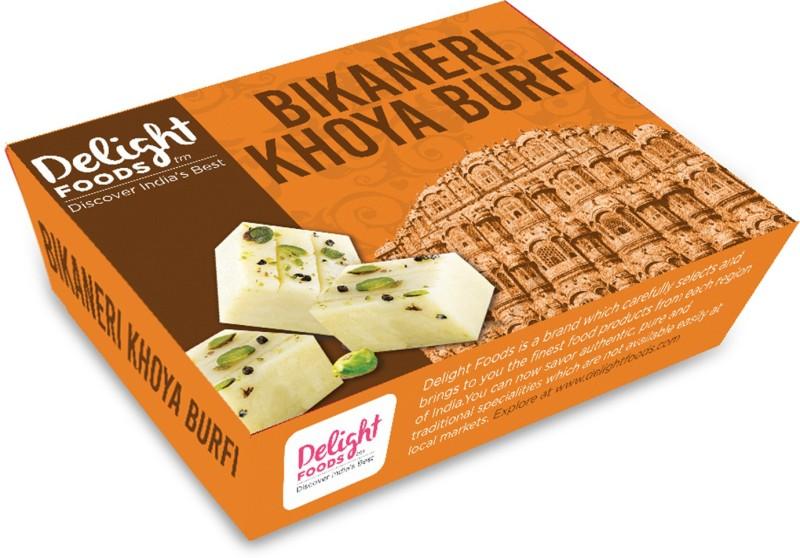 Delight Foods Bikaneri Khoya Barfi - Khova Burfi Box(500 g)