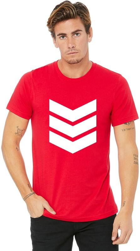Emmature Printed Men Round Neck Red T-Shirt