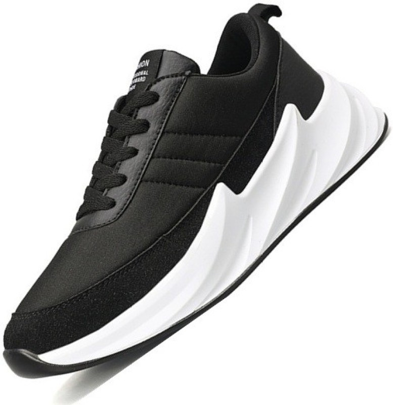 Arivo Breathable Cloth Surface Run Leisure Shoes Casuals For Men(Black)