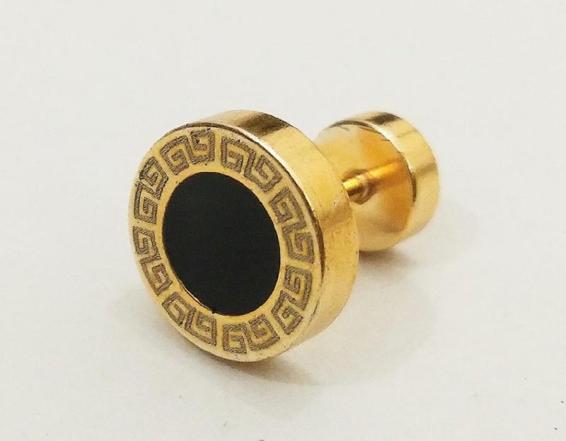 athizay Mens Earring Fashion Jewelry Stainless Steel Golden Single Studs Earings/Earrings for Men|Boys|Boyfriend Gifting Jewellery Stainless Steel Stud Earring