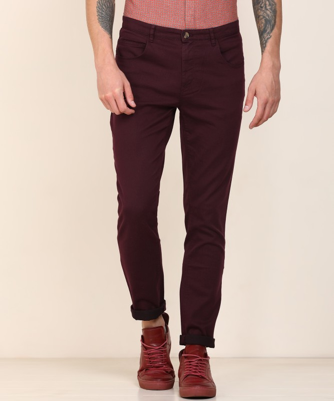 United Colors of Benetton Tapered Fit Men Maroon Jeans