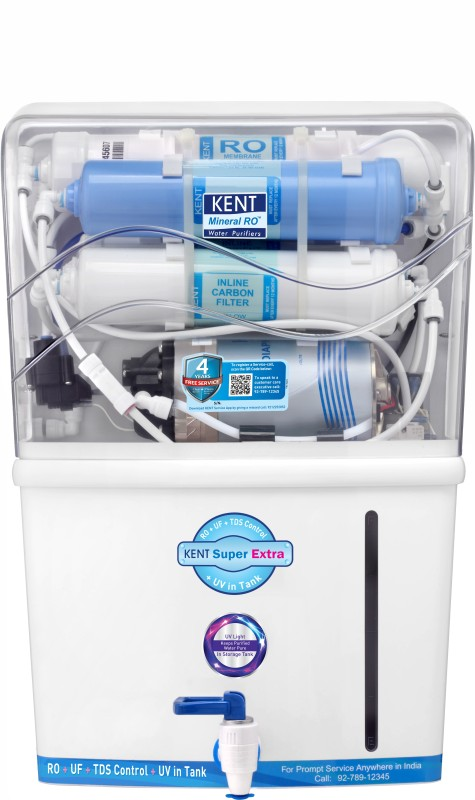Kent Super Extra 8 L RO + UV + UF + TDS Water Purifier(White, Blue)