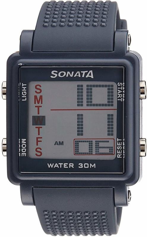 Sonata NH77043PP02 Digital Watch - For Men
