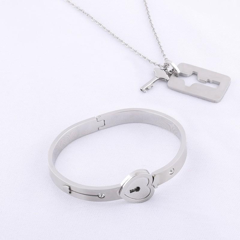 SILVER SHINE Alloy Bracelet Set