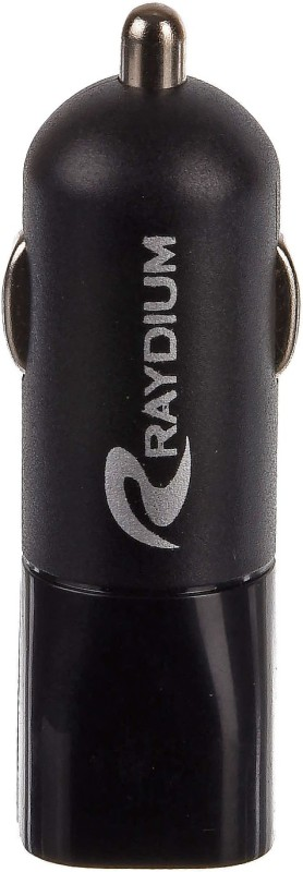 RAYDIUM 3.1 Amp Qualcomm Certified Turbo Car Charger(Black, With USB Cable)