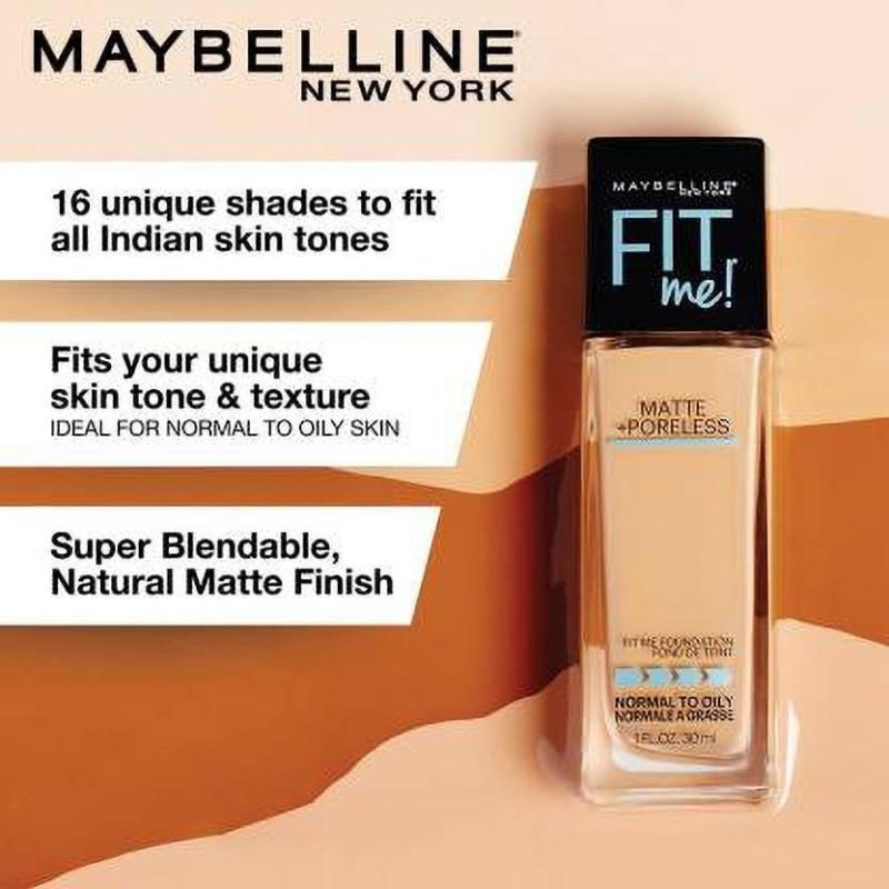 Maybelline New York Fit Me Matte+Poreless Liquid Foundation(Nude Beige-125, 30 ml)