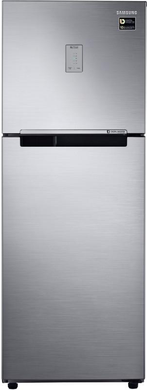 Samsung 253 L Frost Free Double Door 3 Star (2020) Refrigerator(Elegant Inox, RT28T3483S8/HL)