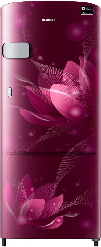 Samsung 192 L Direct Cool Single Door 4 Star (2020) Refrigerator(Saffron Red, RR20T1Y2XR8/HL)