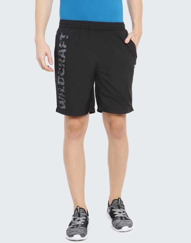 Wildcraft Printed Men Black Sports Shorts