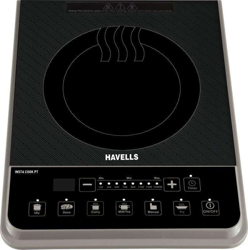 Havells PT Induction Cooktop(Black, Push Button)