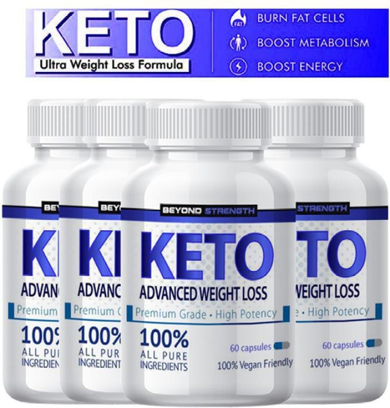 Herbal max Premium Keto Advance for Natural & Organic Weight Management - 60 Caps (Pack of 4)(240 No)