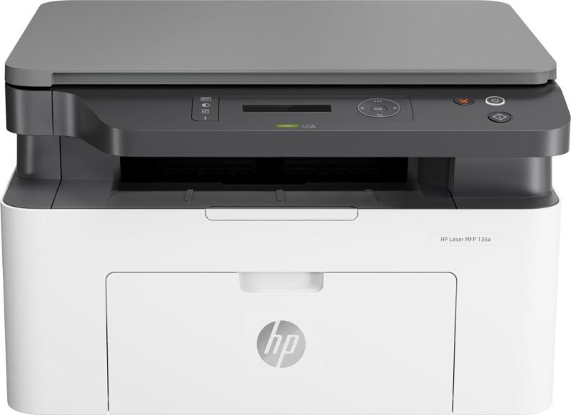 HP MFP 136a Multi-function Color Printer(White, Grey)